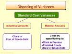 disposing of variances