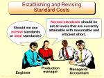 establishing and revising standard costs