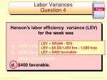 labor variances question 41