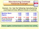 manufacturing overhead variances example