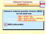 material variances question 41