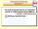 overhead variances question 11
