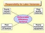responsibility for labor variances3