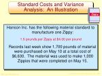 standard costs and variance analysis an illustration