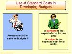 use of standard costs in developing budgets