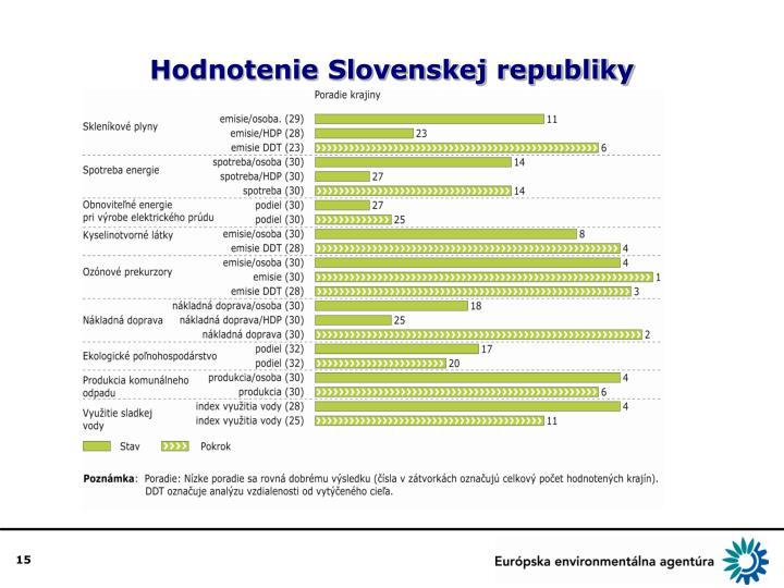Hodnotenie Slovenskej republiky