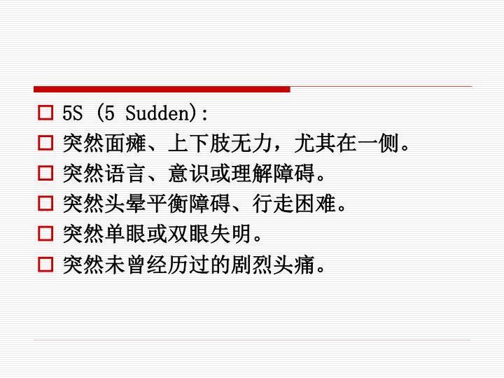 5S (5 Sudden):