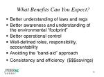 what benefits can you expect