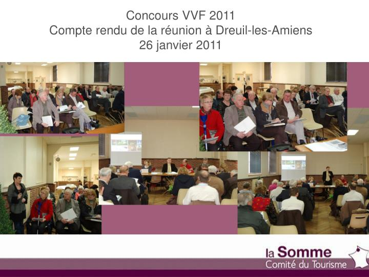 Concours VVF 2011