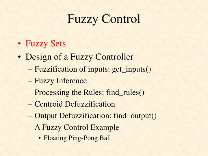 Fuzzy control1
