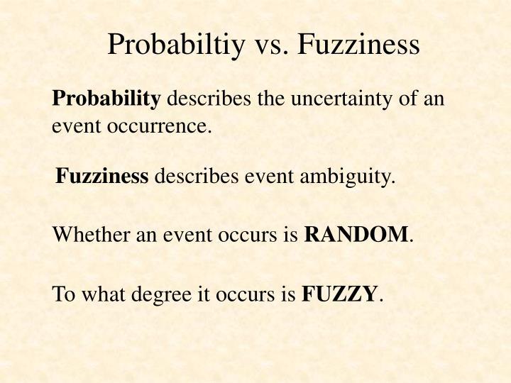 Probabiltiy vs. Fuzziness