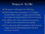 project 4 tx rx5