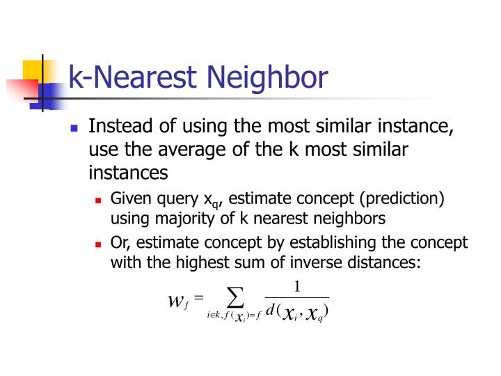 k-Nearest Neighbor