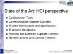 state of the art hci perspective