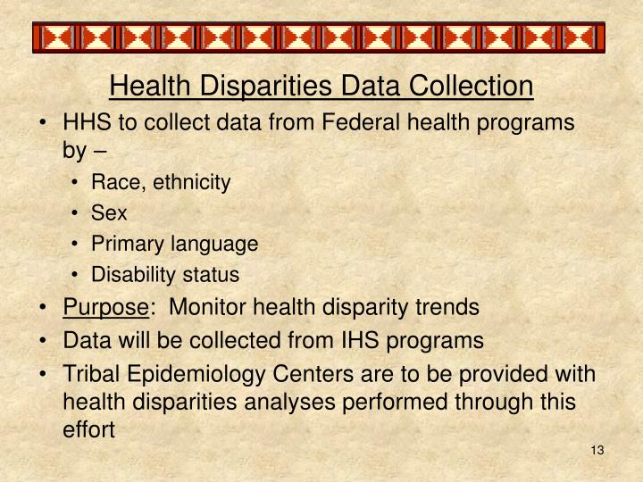 Health Disparities Data Collection