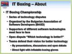it boxing about