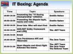 it boxing agenda