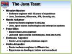 the java team
