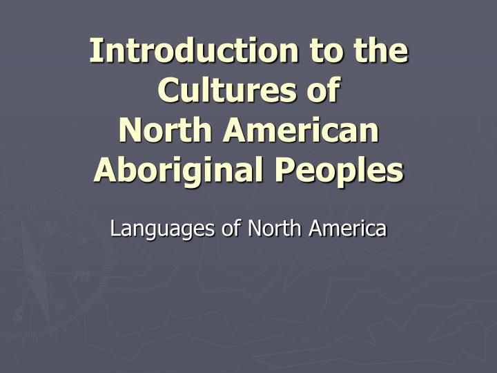 introduction to the cultures of north american aboriginal peoples n.