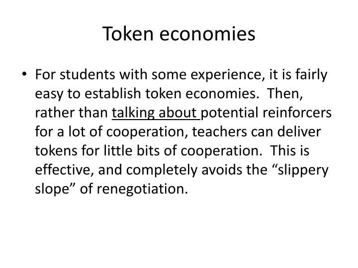Token economies