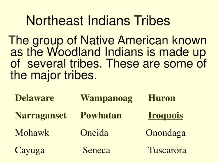 Northeast Indians Tribes