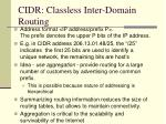 cidr classless inter domain routing1