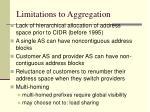 limitations to aggregation