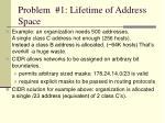 problem 1 lifetime of address space