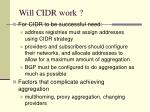 will cidr work