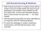 self directed learning medicine