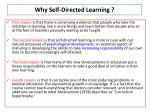 why self directed learning