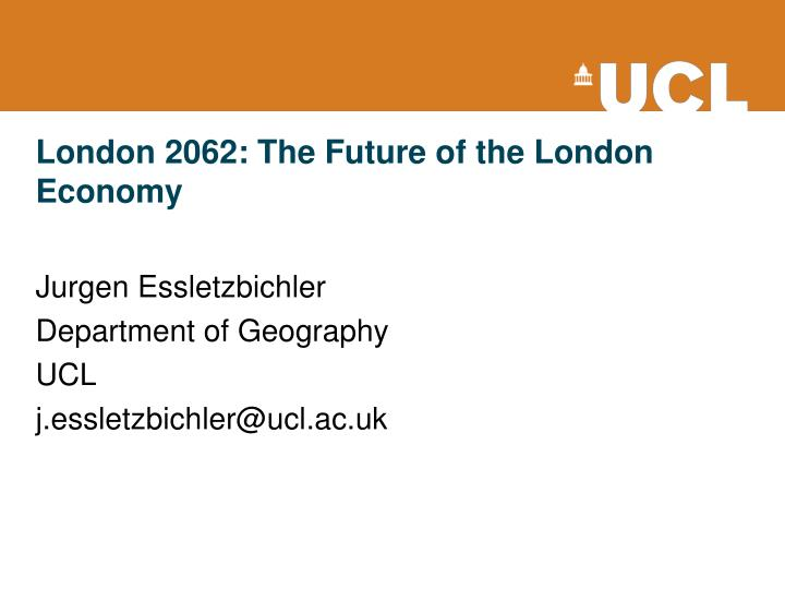 London 2062 the future of the london economy