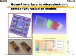 geant4 interface to microelectronic component radiation models
