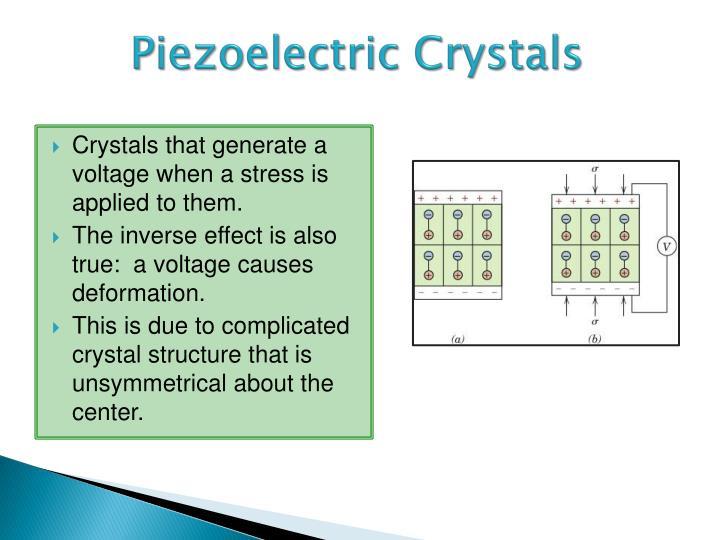 Piezoelectric crystals1