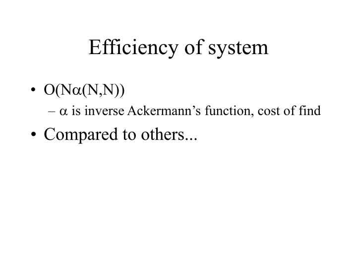 Efficiency of system