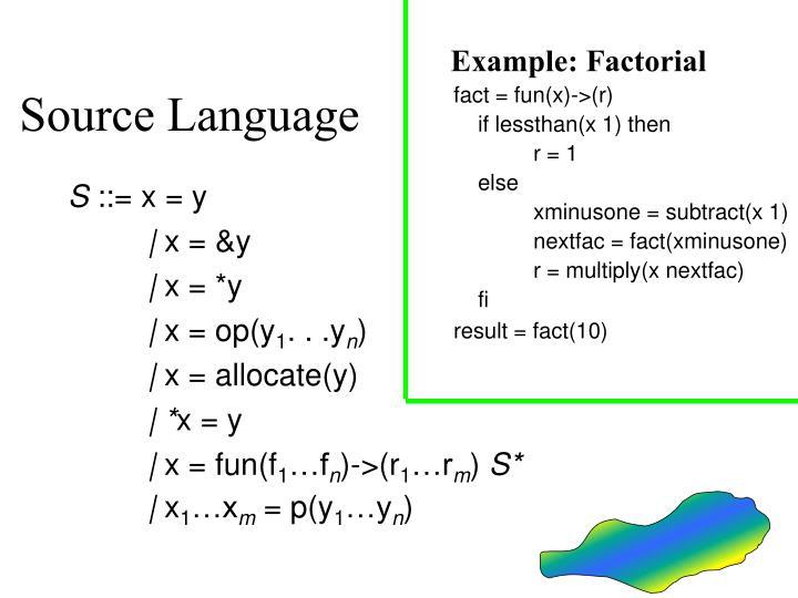 Example: Factorial