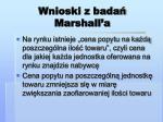 wnioski z bada marshall a