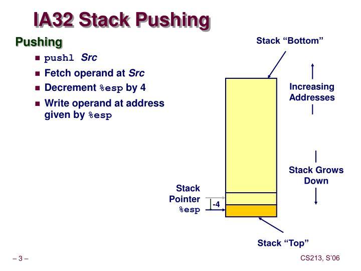 Ia32 stack pushing