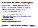 functions as first class objects
