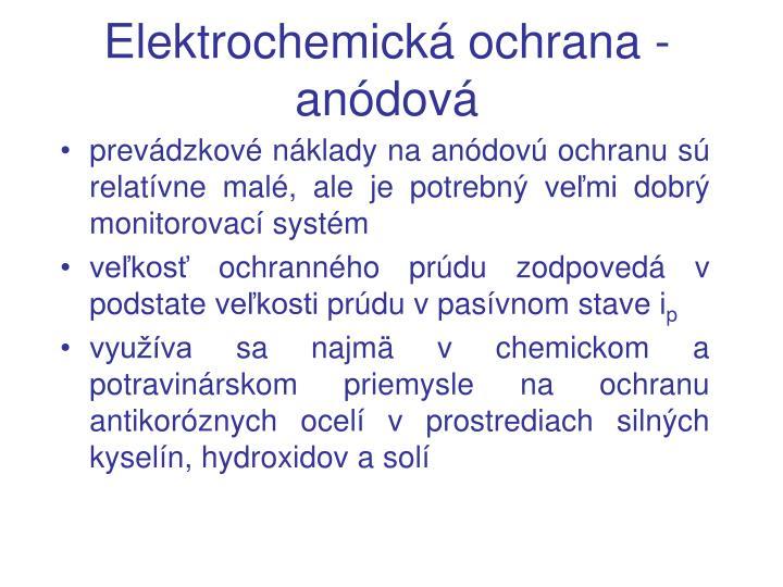 Elektrochemická ochrana - anódová