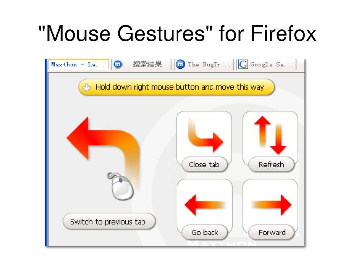 """Mouse Gestures"" for Firefox"