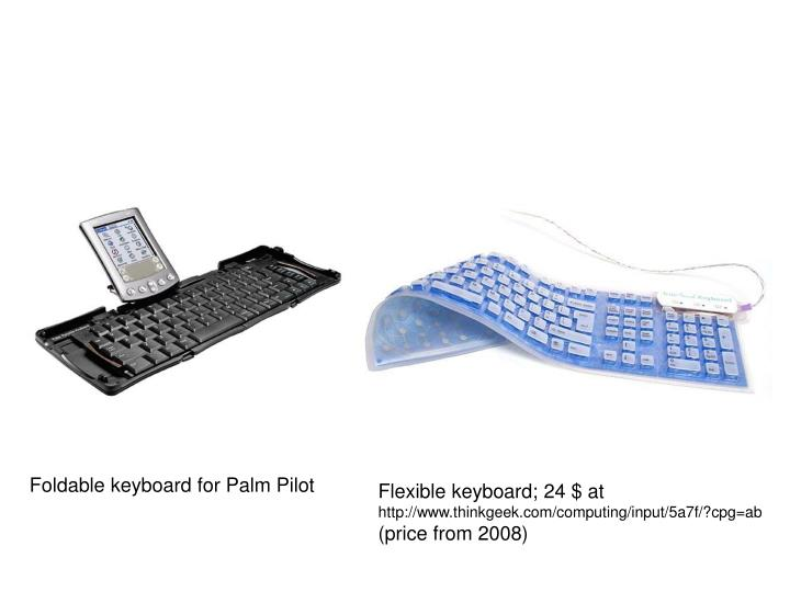 Foldable keyboard for Palm Pilot