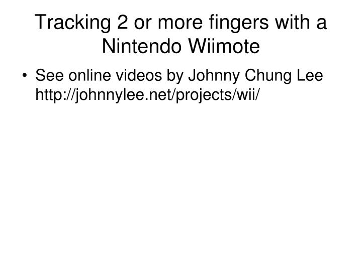 Tracking 2 or more fingers with a Nintendo Wiimote
