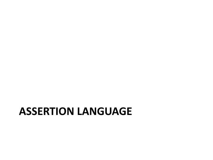 Assertion Language