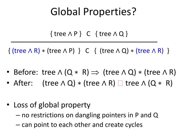 Global Properties?