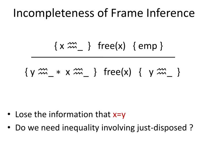 Incompleteness of Frame Inference