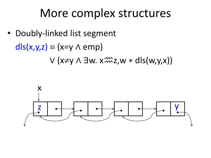 More complex structures