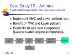 case study iii artimus a web based news poster http sourceforge net struts