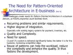 the need for pattern oriented architecture in e business ref 8