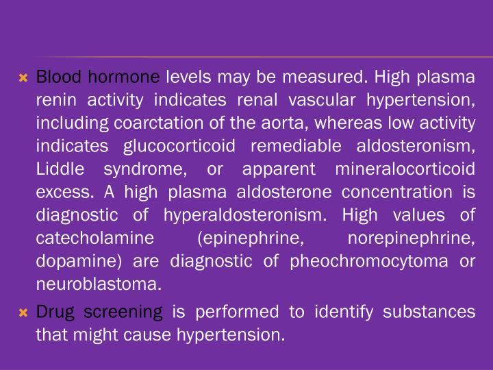 Blood hormone